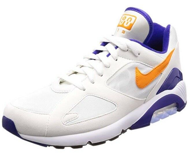 NEW Nike Men's Air Max 180, White Bright Ceramic (bluee orange) 615287 101 Size 9