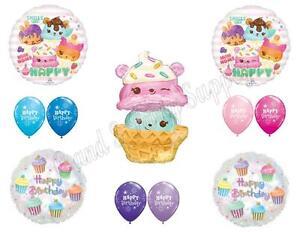 XL NUM NOMS Birthday Party Balloons Decoration Supplies 11 pc Ice Cream Cupcakes