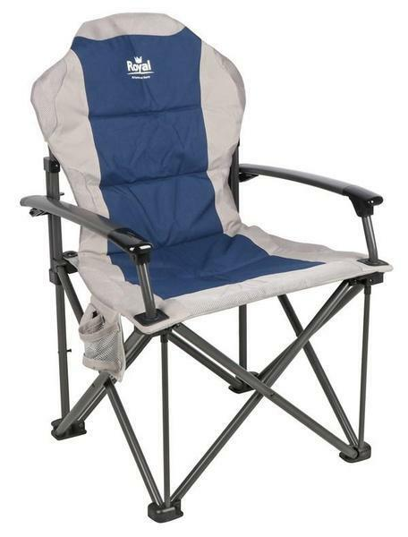 Royal Commander Padded Camping Armchair Chair bluee - RRP .99 - 2018 Model