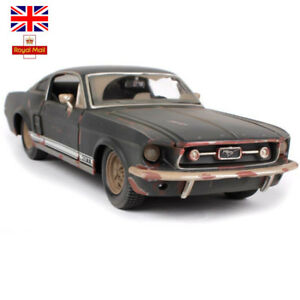 UK-1-24-1967-FORD-Mustang-GT-Jeep-Vintage-Classic-Diecast-Model-Cars-Xmas-Toys