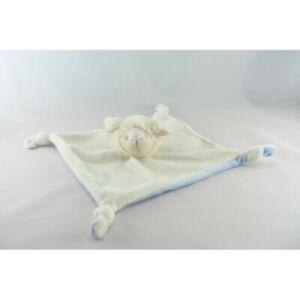 Doudou plat mouton blanc bleu AVENE PEDIATRIL - Mouton Plat, Semi plat