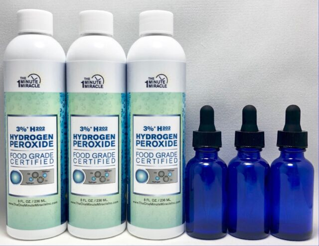 3pc 8 Oz 3 Hydrogen Peroxide Food Grade H2o2 Diluted From 35