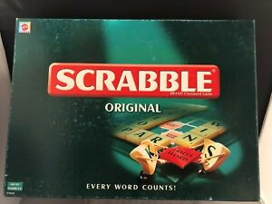 Scrabble Family Board Game Mattel Games Complete 2003 Age 10 2 To 4