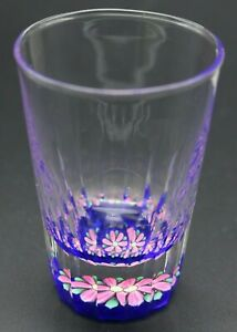 Magnificent-PERTHSHIRE-Pink-BLOOMING-FLOWER-Art-SHOT-GLASS-Paperweight-Boxed