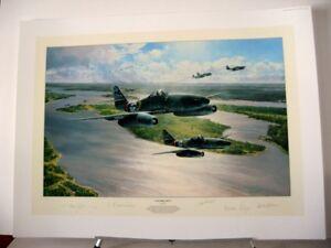 Stormbirds-Rising-Messerschmitt-Me262-Jet-Robert-Taylor-4-Signed-Aviation-Art