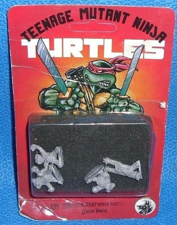 TMNT Terror Bears Metal Miniatyr Figures Dark Horse Outrunted NIB MOC