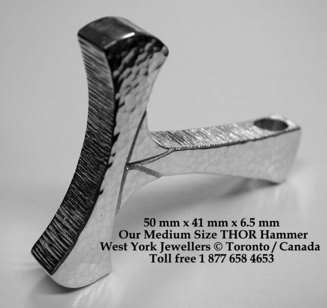 Thors Hammer Sterling Silver Pendant