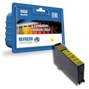 Refresh-Cartuchos-Amarillo-014N1071E-100XL-Tinta-Compatible-con-Lexmark