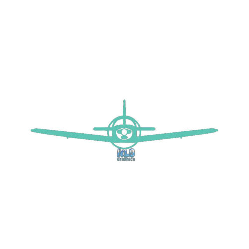 PIPER PA-23 CHEROKEE 203 DAKOTA PILOT front sticker decal Airplane Aviator