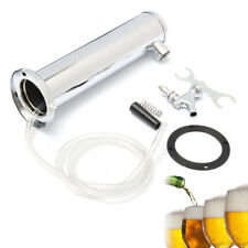 Single Tap Draft Beer Tower Kit 3 Faucet Stainless Steel Plastic For Bar Home