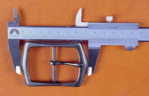 """Heavy Duty Finition Argent Oblong Center Bar Boucle de ceinture Convient à 1-1//2/"""" en cuir ceintures"""
