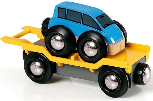Brio CAR TRANSPORTER BLUE 33577 Child Toddler Railway Toy Train Play Gift New