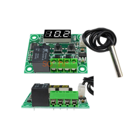 W1209 12V LED Digital thermostat Temperature Control Switch Sensor Cable Module