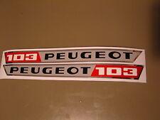 2 AUTOCOLLANTS POUR CADRE  PEUGEOT  103