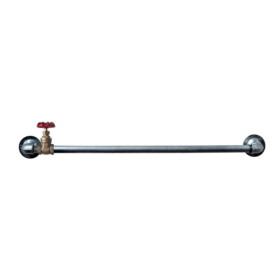 Industrial Steel Conduit Pipe Towel Rail Bathroom Kitchen Rail Rustic