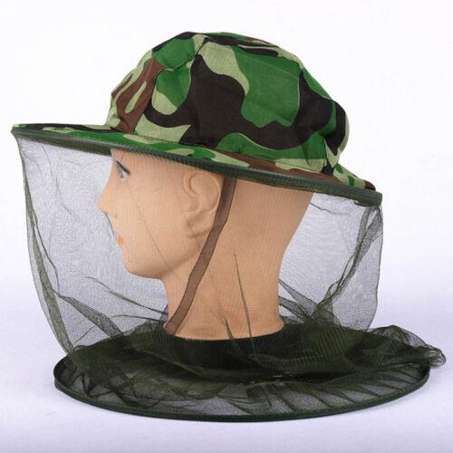 Outdoor Mosquito Resistance Bug Net Mesh Head Face Protector Cap Sun Hat Cap US.