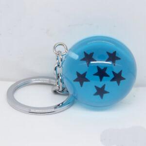 Anime-Dragon-Ball-Z-Keychain-Pendentif-boules-de-cristal-porte-cles-Cosplay-6-etoiles-3-4-cm