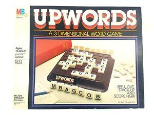 1983-UPWORDS-3-D-3-Dimensional-Word-Board-Game-MB-4312-VINTAGE-Missing-Tiles