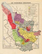 BURGUNDY BOURGOGNE VINEYARD MAP Montagny Givry AOC Côte Chalonnaise LARMAT 1953