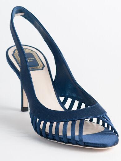 New  Dior bluee Satin Upper Sandals Retail  690 Size 40 US 10