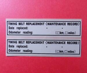 qty 10 timing belt replacement sticker label non oem toyota lexus rh ebay com Toyota Timing Belt Replacement Schedule Toyota Timing Belt Replacement Intervals