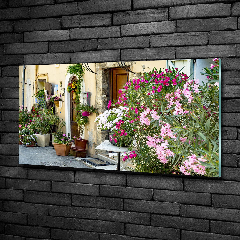Vetro-Immagine Parete immagini Stampa su vetro 100x50 attrazioni vicolo Francia