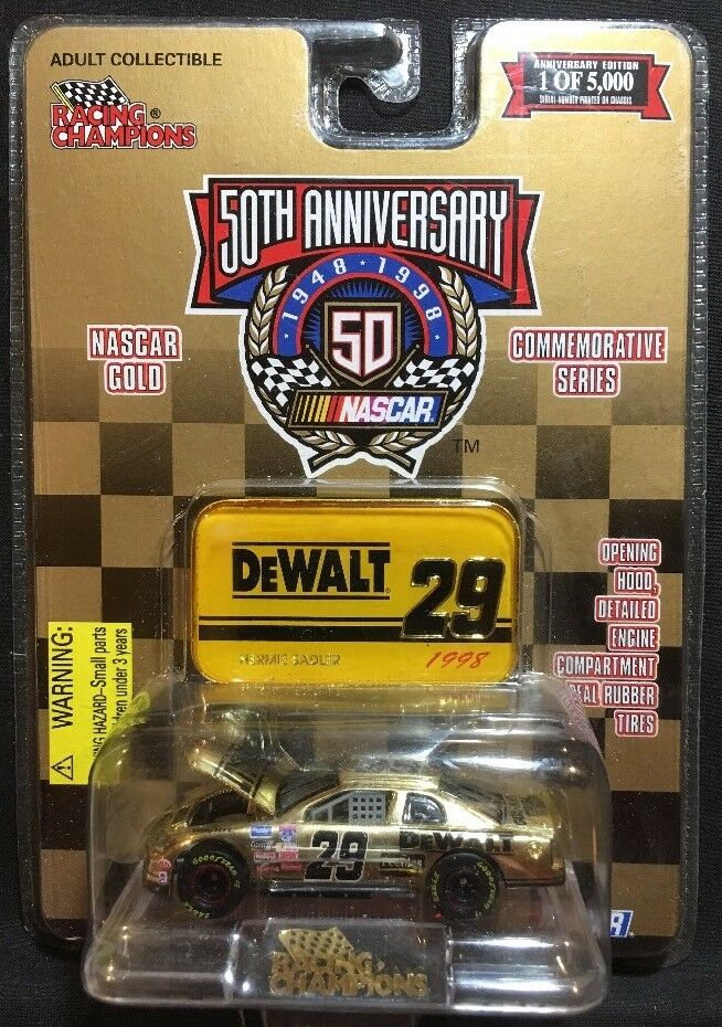 Racing Champions Nascar gold Hermie Sadler 1 64 Diecast New 1998