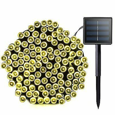 lalapao 2 pack solar string lights 72ft 22m 200 led 8 modes powered for sale ebay