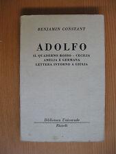 Adolfo di Benjamin Constant BUR 549-551 Ed.Rizzoli 1953