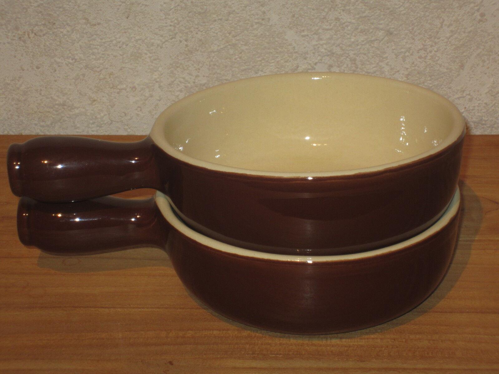 EMILE HENRY NEW Set 2 Caquelons 14cm 0,5L Rustrique Brun