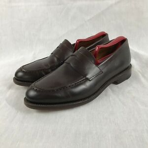 c00a42359db J CREW LUDLOW PENNY LOAFERS LEATHER SHOES BROWN MEN S SIZE 8.5 D
