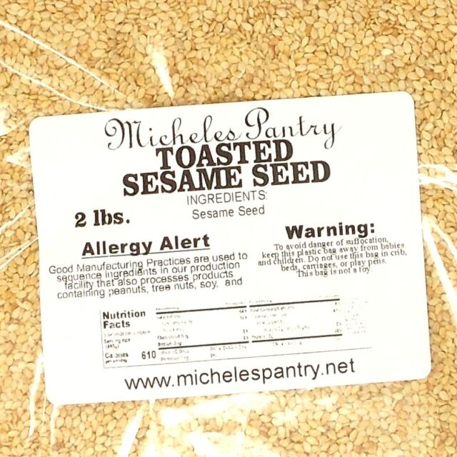 Toasted Sesame Seeds ~ 2 Lbs