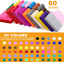 Polymer Clay,60 Colors 1 oz//Block Soft Oven Bake Modeling Clay Kit Non-Toxic NEW