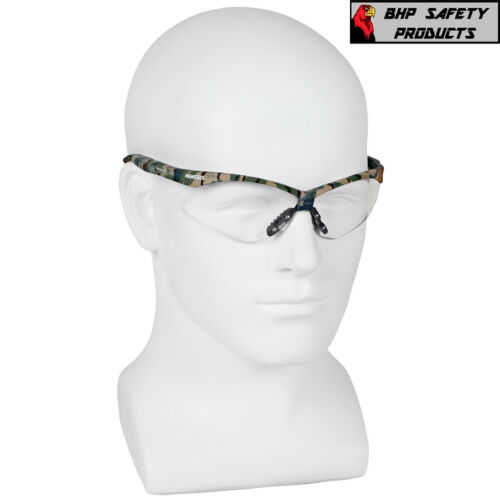 12 PAIR JACKSON NEMESIS 22608 SAFETY GLASSES CAMO//CLEAR ANTI-FOG LENS HUNTING