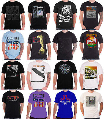 Official Led Zeppelin T Shirt USA 77 Tour Stairway to Heaven band logo Mens