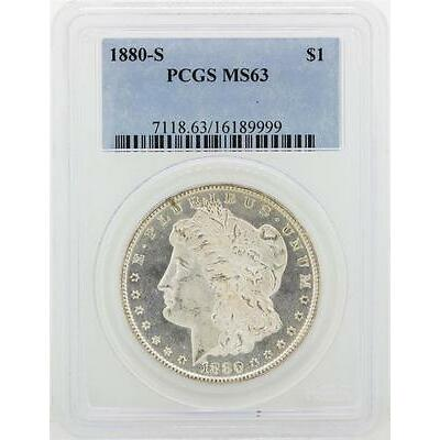 1880-S PCGS MS63 Morgan Silver Dollar Lot 12