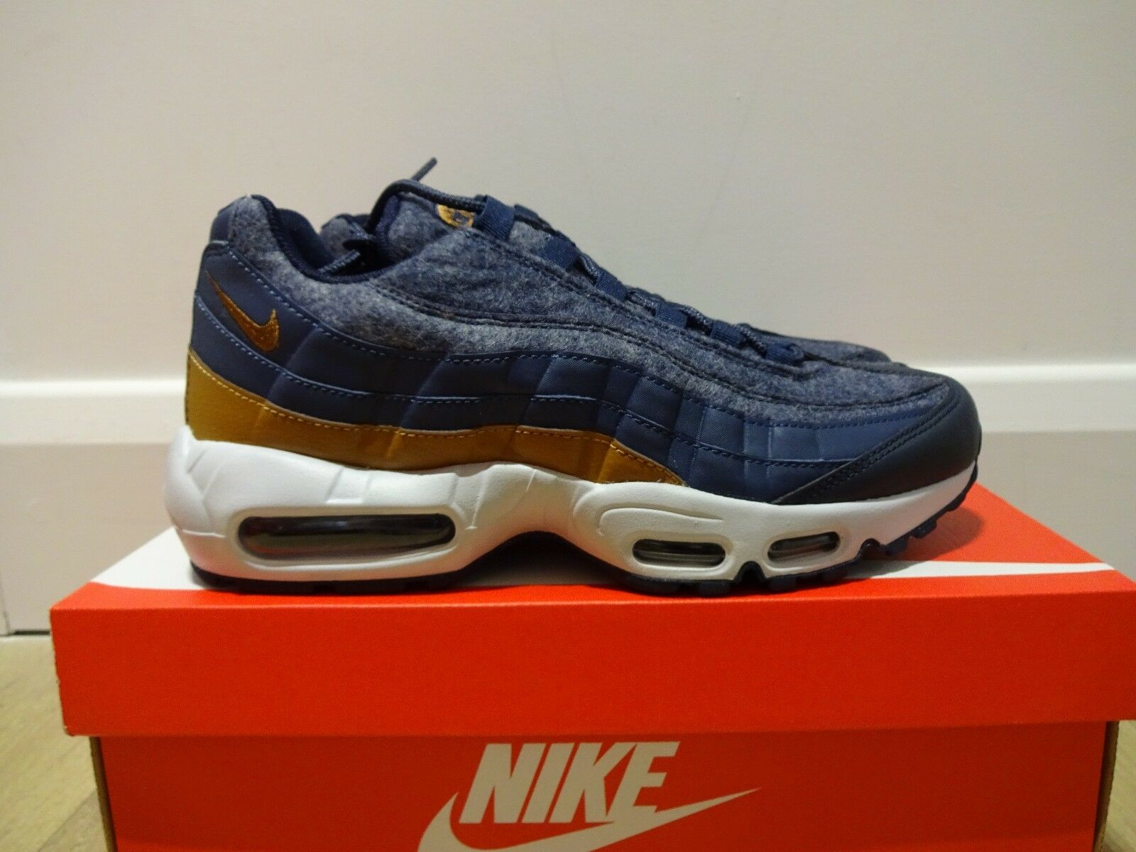 NIKE AIR MAX 95 PRM - THUNDER Bleu / ALE BROWN BNIB VARIOUS TailleS 538416 403