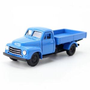 1-36-1952-Opel-Blitz-Truck-Die-Cast-Modellauto-Spielzeug-Model-Sammlung-Blau