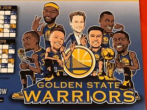 b6bb5618 Details about Cheer Card Golden State Warriors 18-19 Authentic Fan Schedule  Curry Klay New SGA