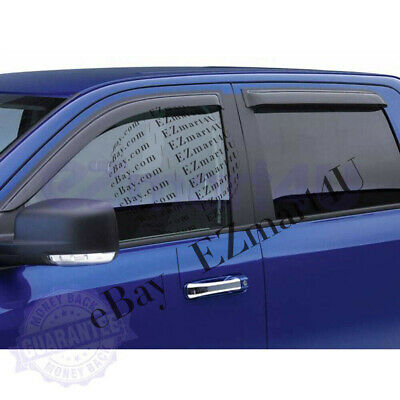 JDM Vent Visors 4pcs Wind Deflector For Dodge Ram 1500 09-16 2009-2016 Crew Cab