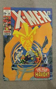 Uncanny-X-men-1963-series-58-Grade-6-5-1st-Havoc-in-costume