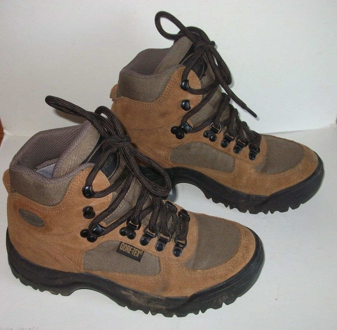Vasque Hiking Boots Womens Size 6 Gortex Leather & Nylon Brown High Top