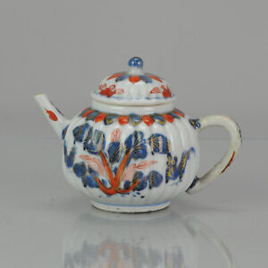 Antique 17/18C Chinese Porcelain Imari  Kangxi Molded Teapot Roosters