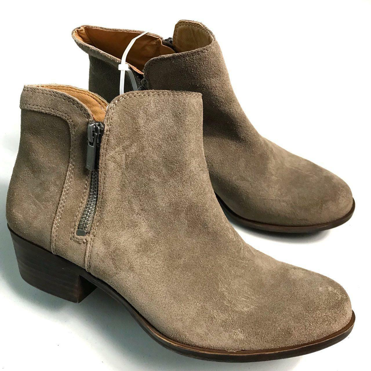 Lucky Brand Women's Tan Suede Ankle Boots Size 8.5M New