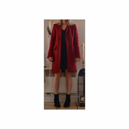 Manteau Manteau T34 Long Zara Zara Bordeaux Long RgfTUHcH