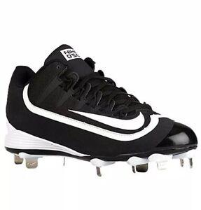 Nike-Huarache-2kFilth-Pro-Low-Baseball-Cleats-Black-White-807126-010-Size-15
