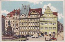 uralte AK, Leipzig, Markt mit Messamt und Alte Leipziger Lebensversicherung KFZ