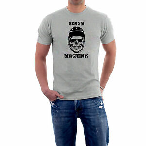 Skull-Cap-Rugby-T-shirt-or-Hoodie-Funny-Scrum-Machine-S-5XL-Generic-Logo-Co