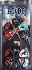 AC/DC - GUITAR PICK SET - 12 PACK OF PICKS Logo - LICENSED NEW