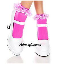 384a9a28c item 4 Vintage Lace Ruffle Frilly Ankle Socks Fashion Ladies Black White  Retro uk stock -Vintage Lace Ruffle Frilly Ankle Socks Fashion Ladies Black  White ...